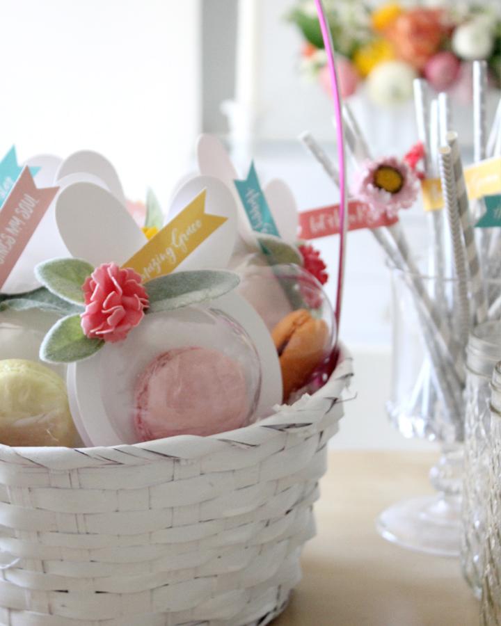 DIY Macaron Easter Bunny Favors with FREE Printable