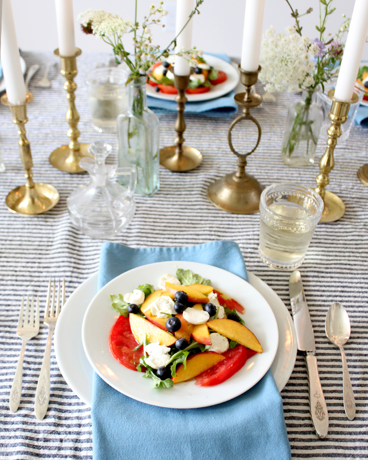 Peach, Tomato & Blueberry Salad Recipe