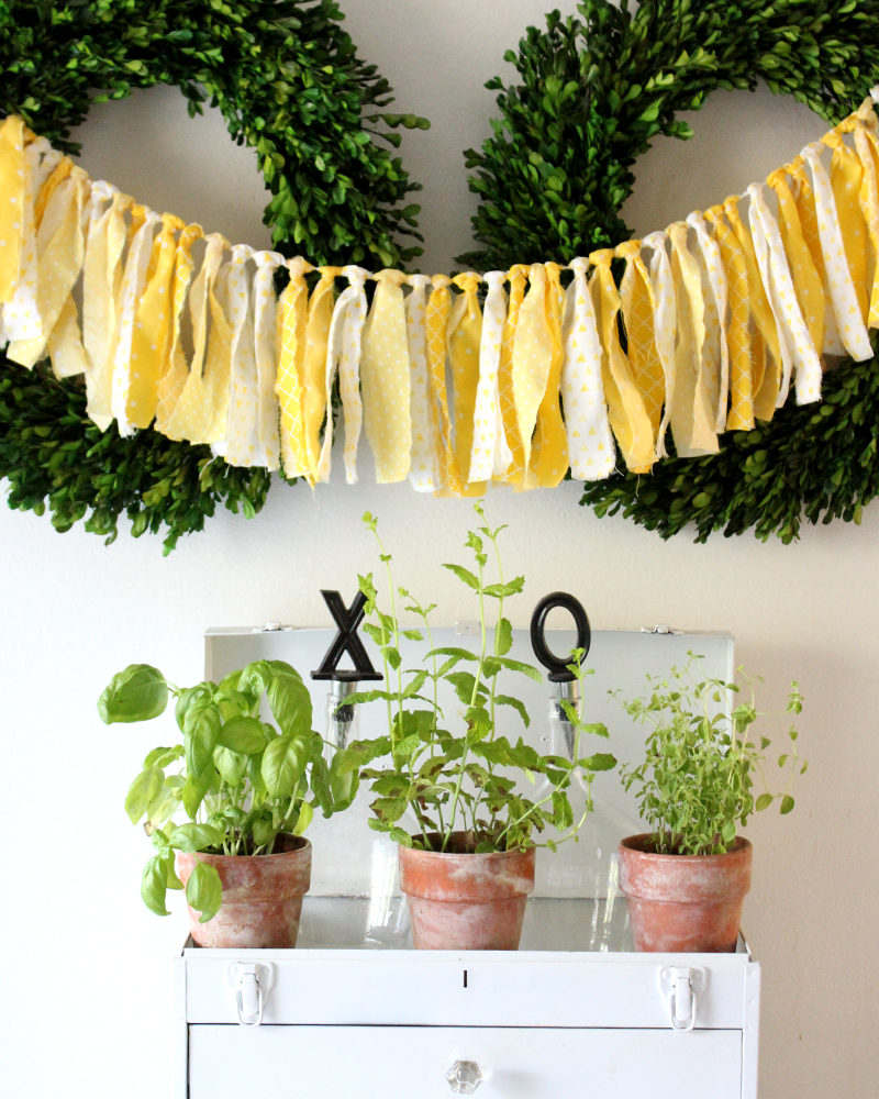 decorating with an herb garden