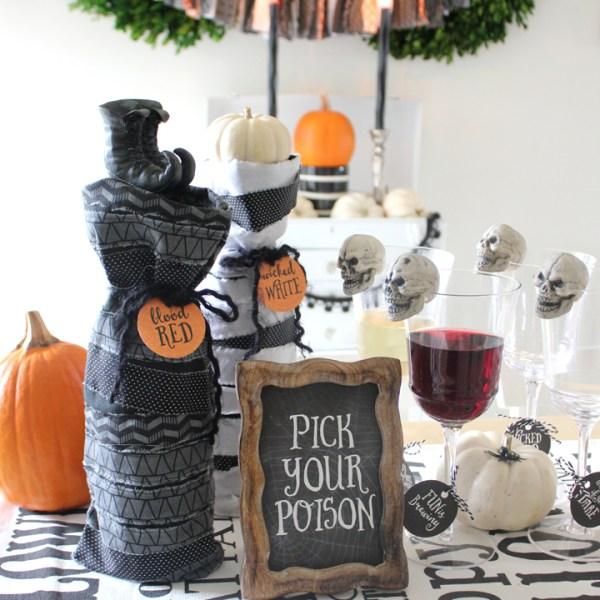 DIY Halloween Wine Bag