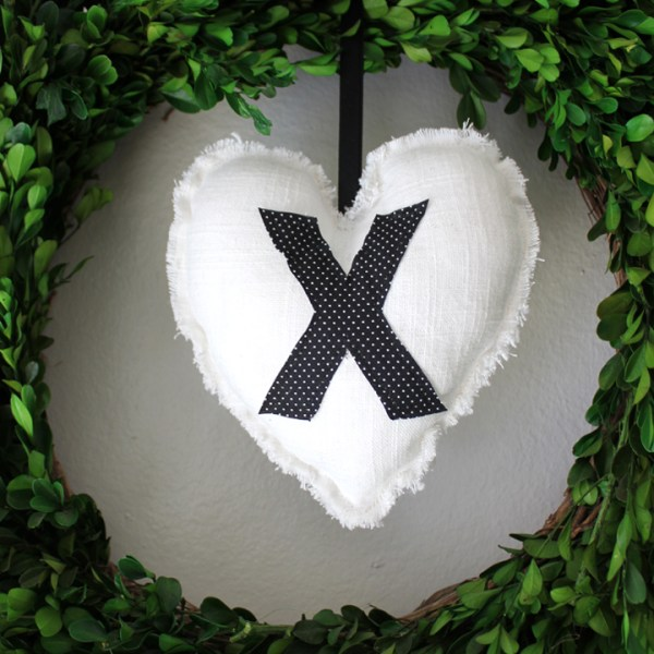 DIY Heart Pillow Ornaments