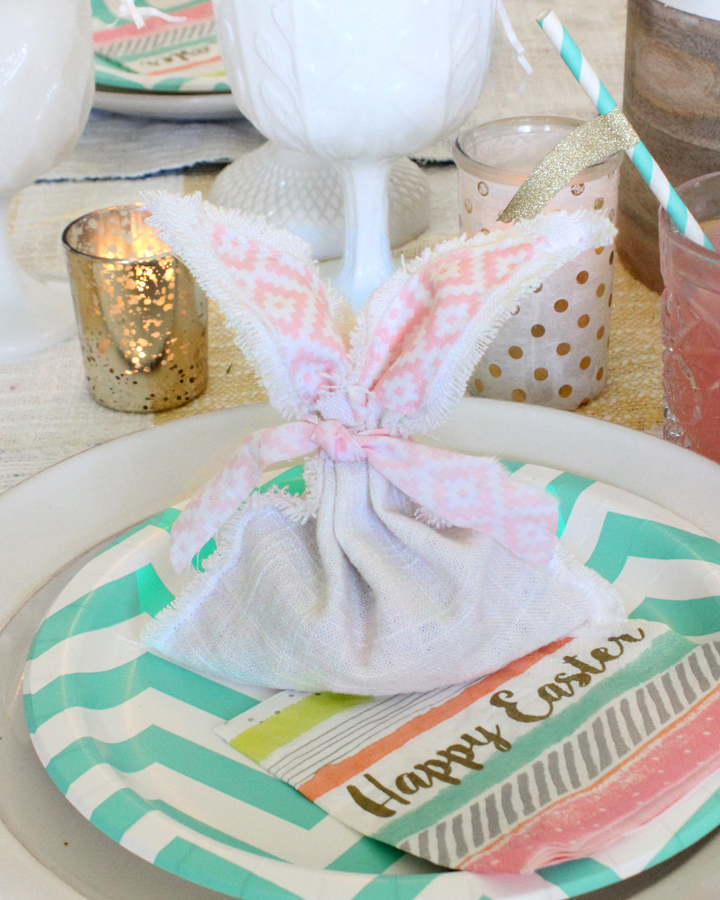 DIY Easter Bunny Fabric Favor Bags