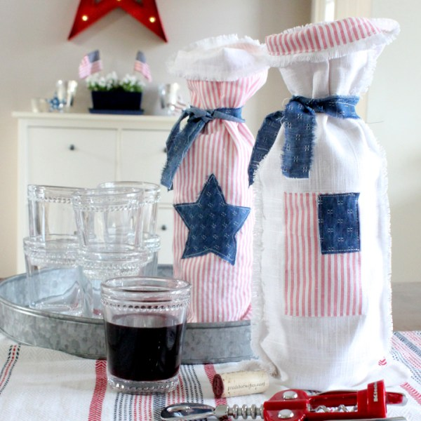 DIY Wine Bag for the Fourth of July