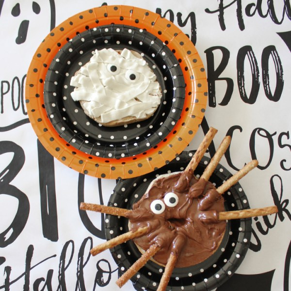 Halloween Bagel Creatures