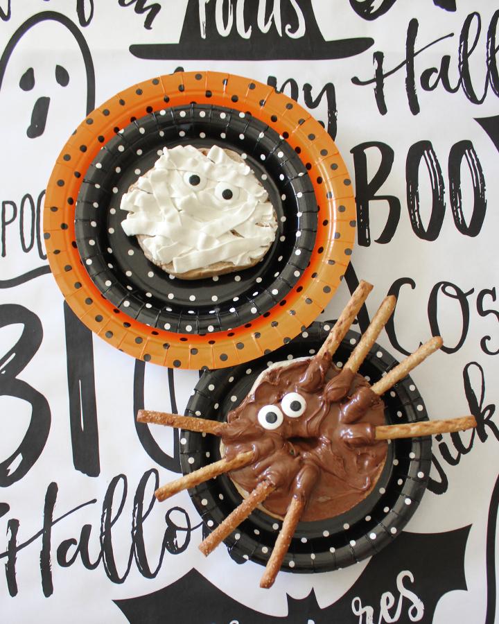 Halloween Bagel Creatures