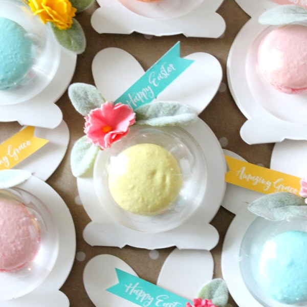 DIY Macaron Easter Bunny Favors with FREE Printable