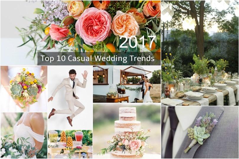 2017 Top 10 Casual Wedding Trends