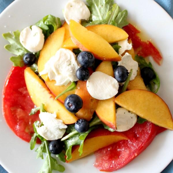 Peach, Tomato & Blueberry Salad Recipe