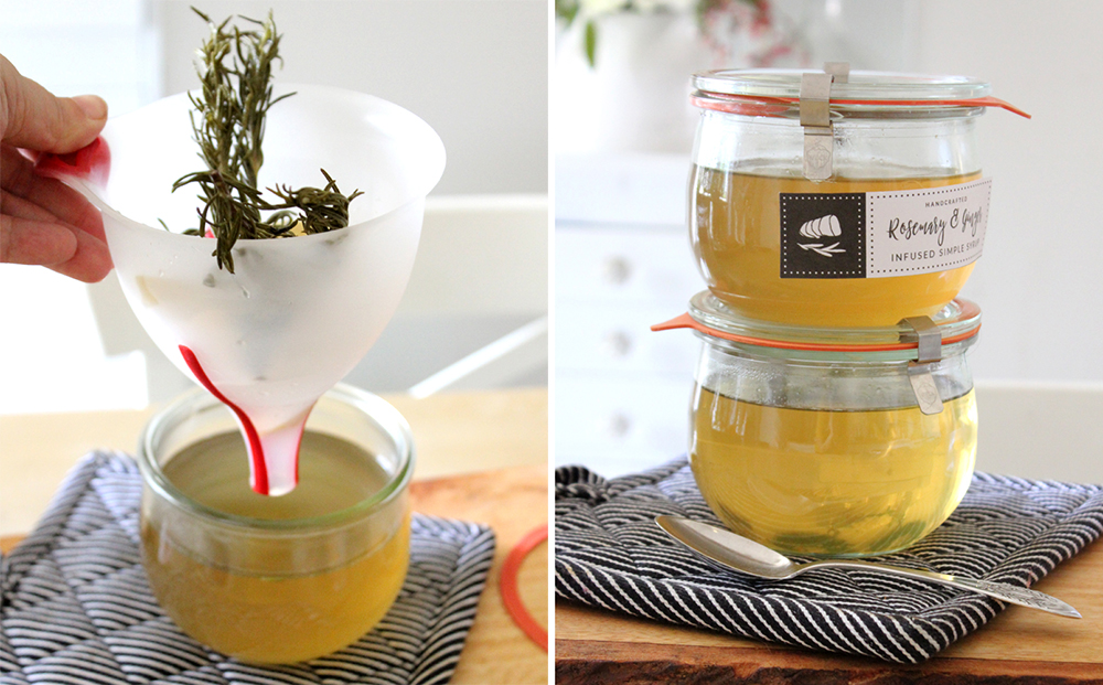 Infused Simple Syrup Recipes with FREE Printable Labels
