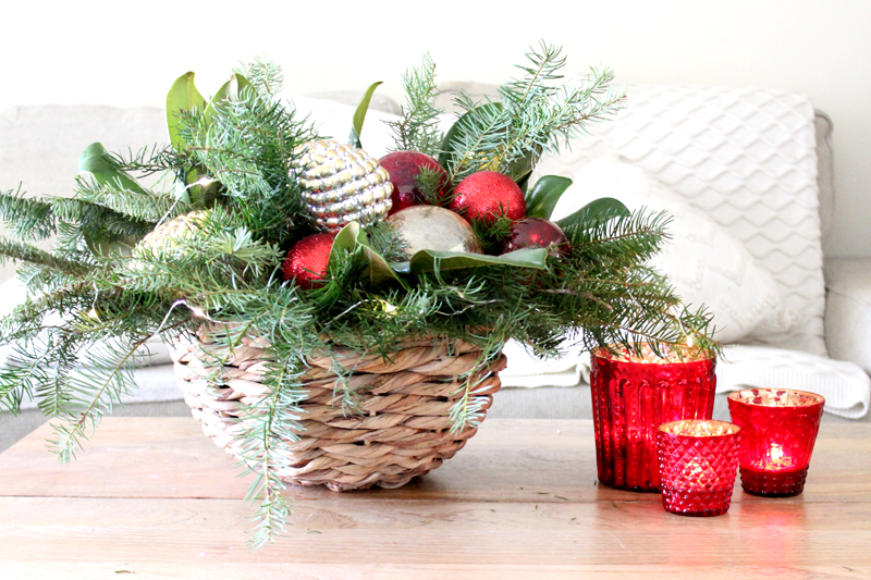 Centerpieces Using FREE Christmas Tree Clippings