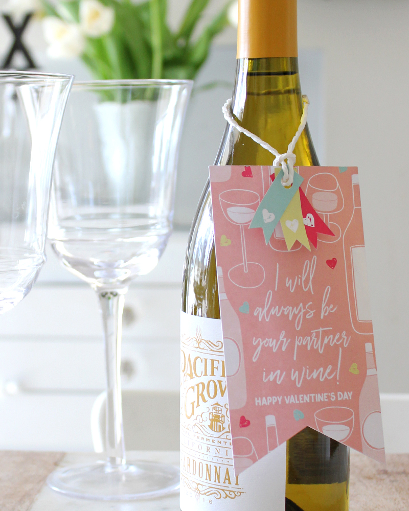 Printable Partners In Wine Valentine - Tonality Designs