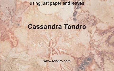 Cassandra Tondro leaf print tutorial