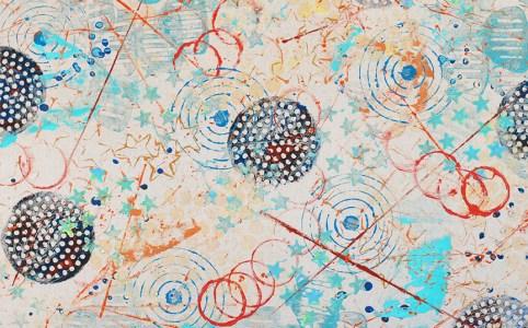 Cosmic Kandinsky abstract painting