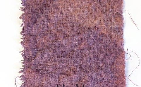 Madder dye on hemp fabric