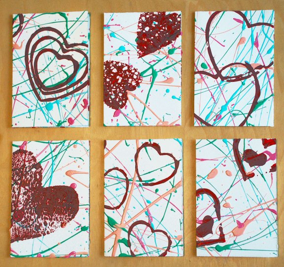 Valentine art cards