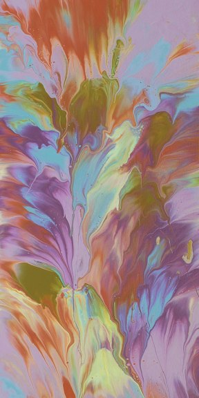 """Cassandra Tondro, """"Early Bloom,"""" abstract painting"""