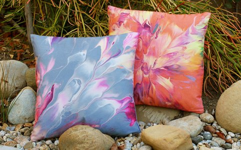 Cassandra Tondro art throw pillows
