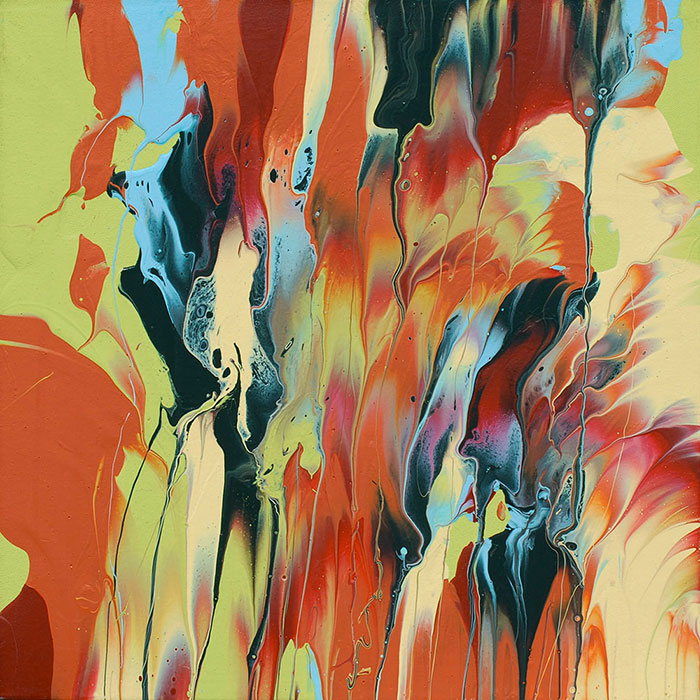 """Cassandra Tondro, """"Rooted,"""" abstract painting"""