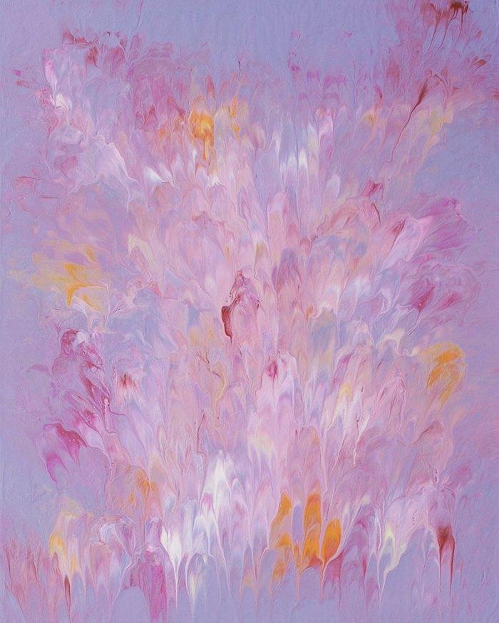 "Cassandra Tondro, ""Divine Love,"" crown chakra painting"