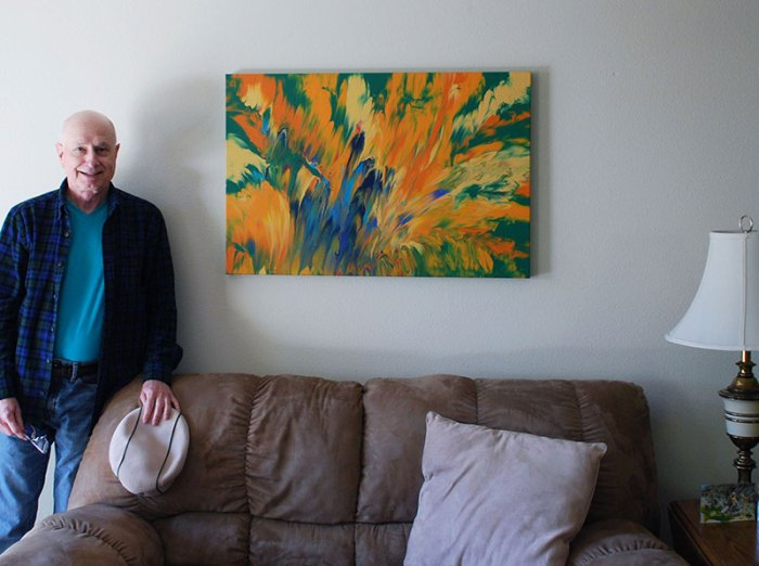 Cassandra Tondro, Wayne painting living room