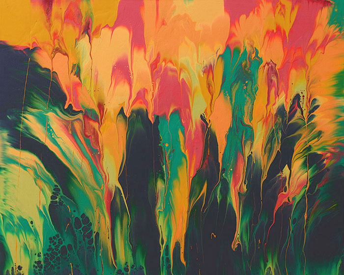 "Cassandra Tondro, ""June Blooms 1,"" abstract painting"
