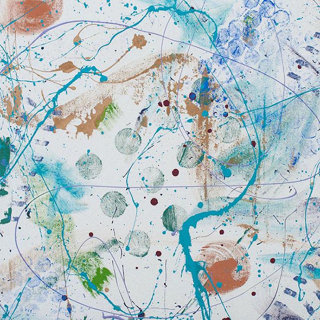 "Cassandra Tondro, ""Taming the Waves 2,"" abstract painting"