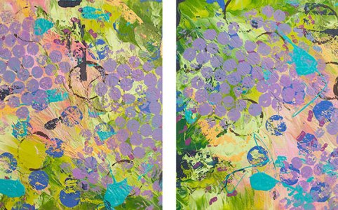 """Cassandra Tondro, """"Baubles,"""" abstract art"""