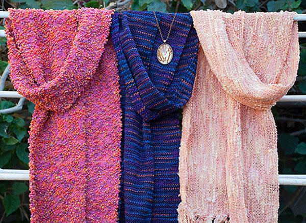 Cassandra Tondro handwoven scarves