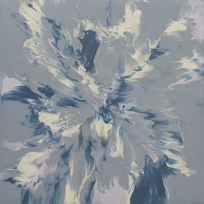 "Cassandra Tondro, ""Winter Solstice,"" abstract painting"