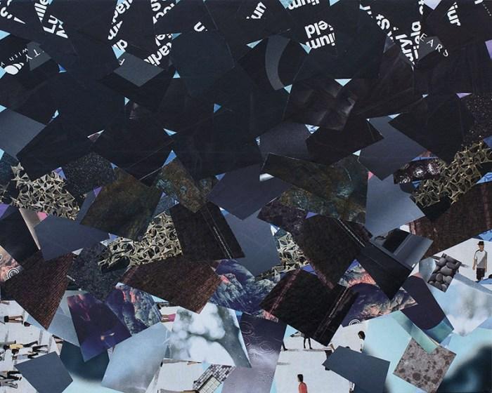 "Cassandra Tondro, ""At a Loss,"" coronavirus collage art"