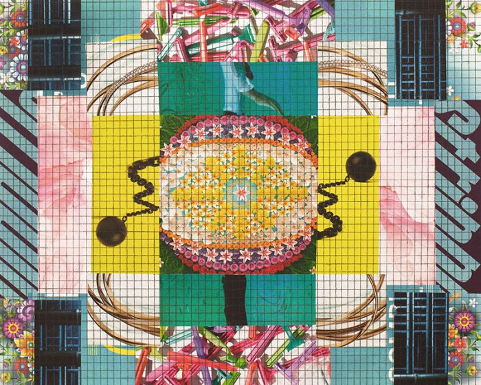 Coronavirus collage art