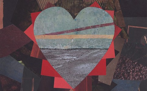 "Cassandra Tondro, ""Birthing New Life,"" collage art"