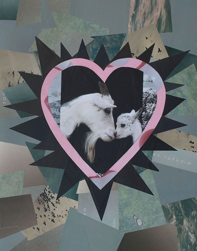 "Cassandra Tondro, ""Madonna and Child,"" collage art"