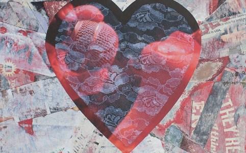 "Cassandra Tondro, ""Passion,"" collage art"