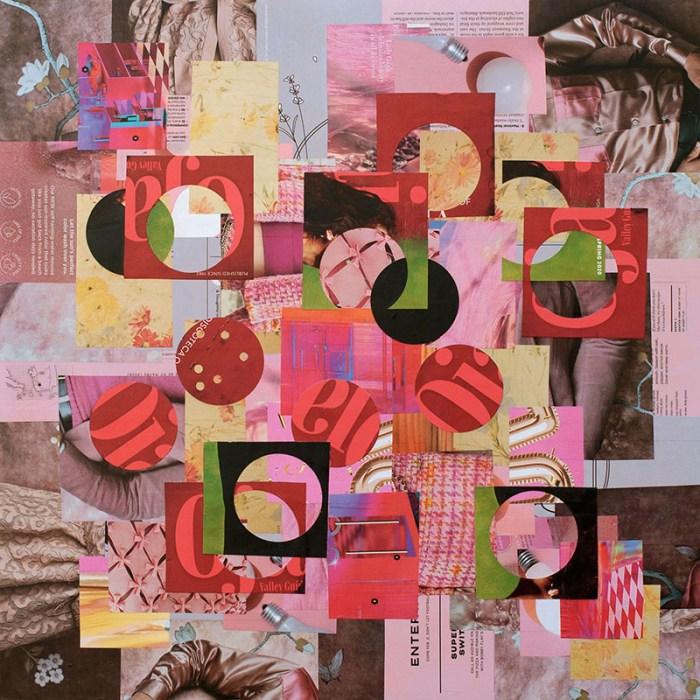"Cassandra Tondro, ""Hijacked by Red,"" collage art"