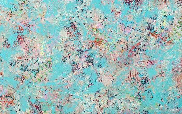 "Cassandra Tondro, ""Space Junk,"" abstract art"