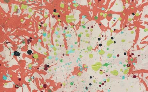 """Cassandra Tondro, """"Orange Blossom,"""" abstract painting"""