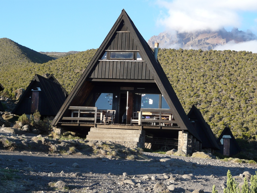 Mandara Hut on Mt. Kilimanjaro