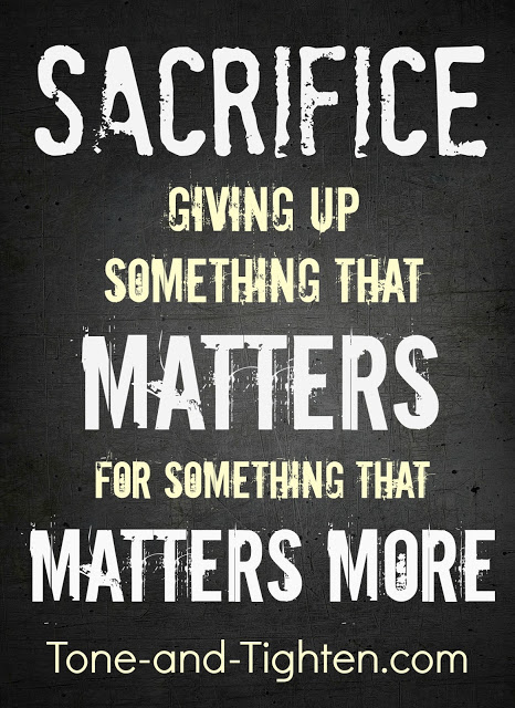 Fitness Motivation Sacrifice Tone and Tighten