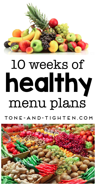 10 Of The Best Healthy Menu Plans
