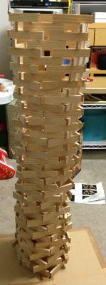 KAPLA タワー作る
