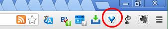 Google Chromeメニューバー上のOne Tabのアイコン