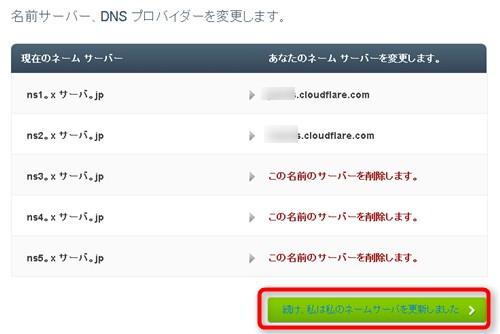 DNS更新しました