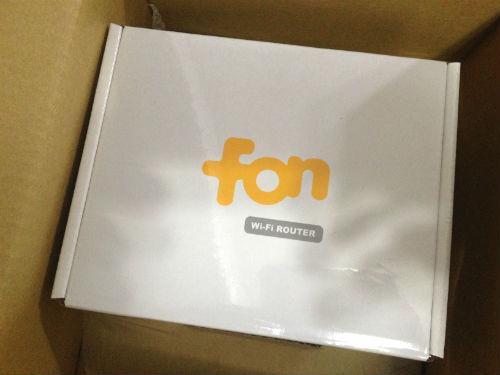 FONルーターの箱