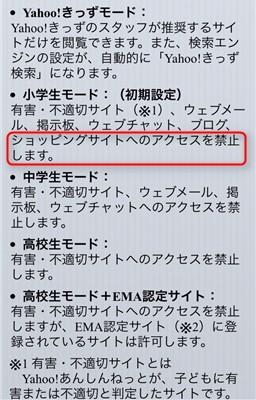 Yahoo!あんしんねっと for SoftBank モード解説
