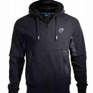OX Zip Through Hoodie - Black/Grey
