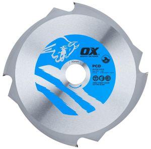 OX Fibre Cement Cutting Blade - OX-PCD-160/20 - OX-PCD-165/20 - OX-PCD-190/30 - OX-PCD-216/30 - OX-PCD-235/30 - OX-PCD-250/30 - OX-PCD-260/30 - OX-PCD-305/30