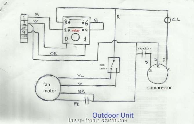 split ac outdoor wiring diagram  schematic wiring diagram