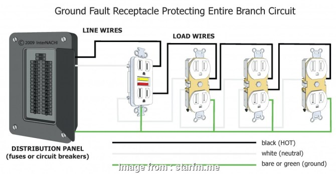 diagram diagram wiring multiple gfci schematics full