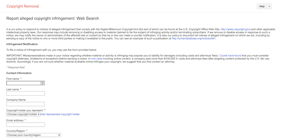 Informe de contenido robado de Google Search Console